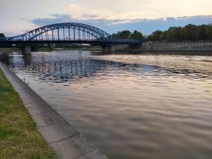 The Vistula river after dinner