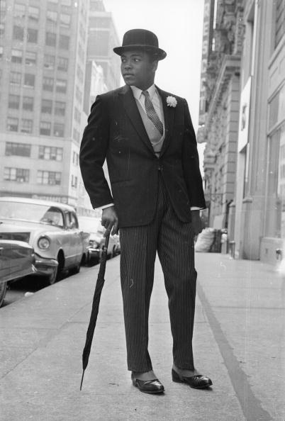 Muhammad Ali in pinstripe