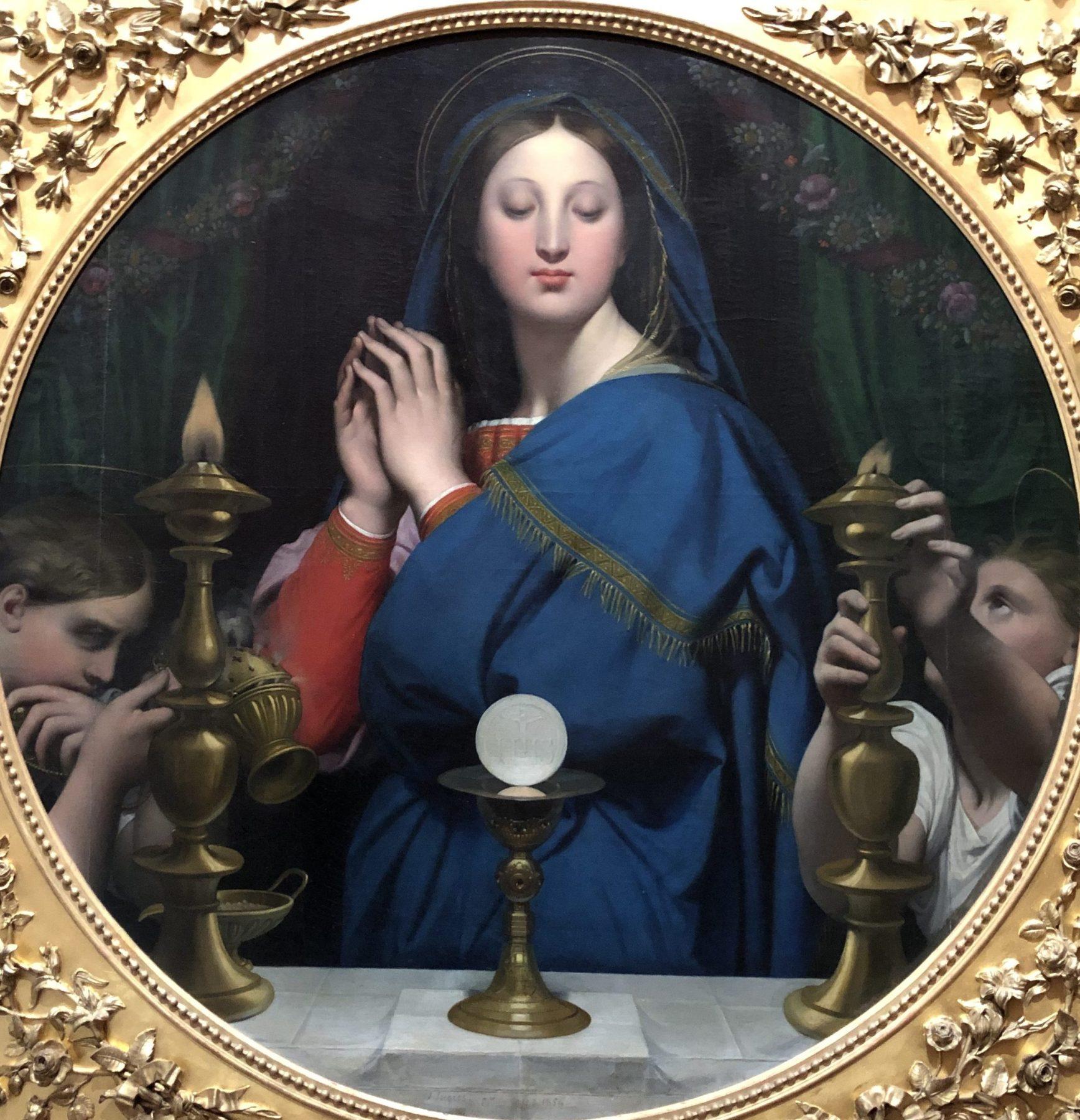 La Vierge Adorant l'hostie, Jean Auguste Dominique
