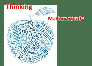 Thinking Mathematically Intro