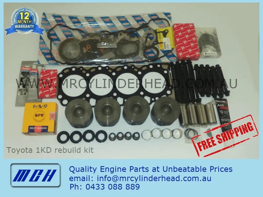 Toyota Hilux 1KDftv full engine rebuild kit MCH