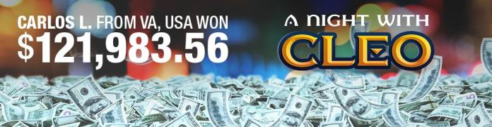 Bovada Slot Machine A Night With Cleo Winner