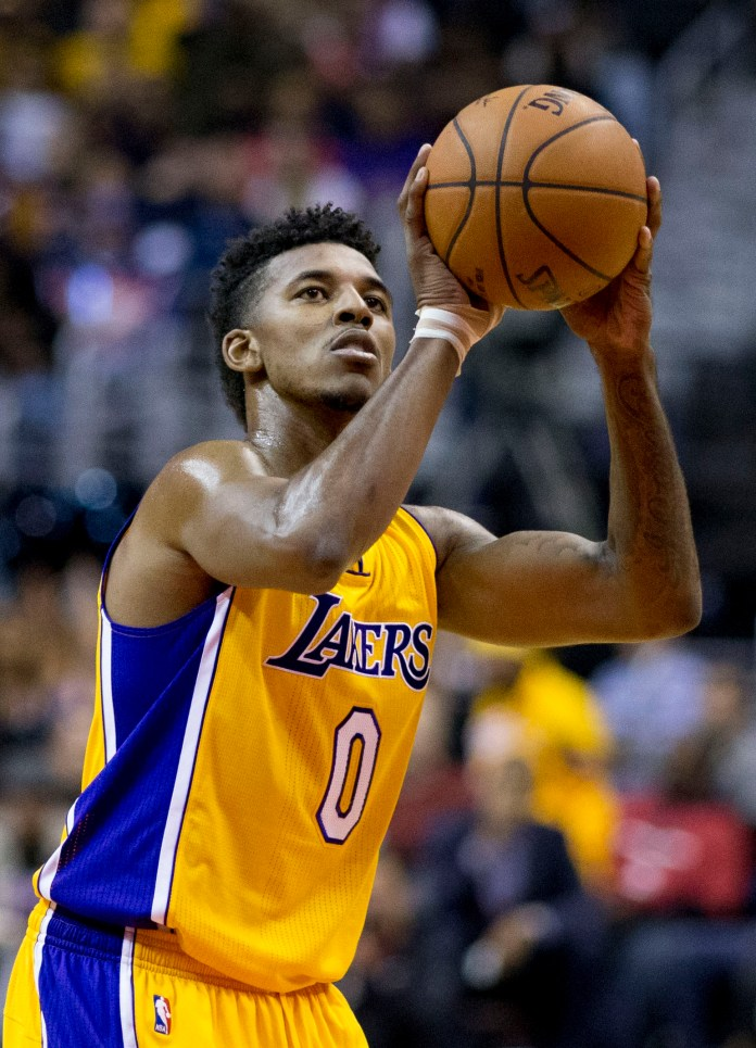 LA Lakers Nick Young Free Throw