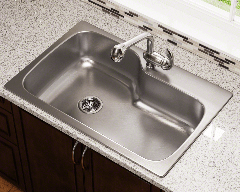 MX346DM Single Bowl Dual-Mount Stainless Steel Sink