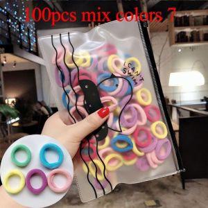 100pcs Colorful Elastic Hair Rubber Bands