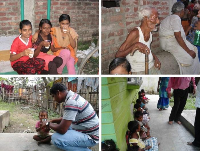 Soy milk in Dum Dum Slum, Kolkata