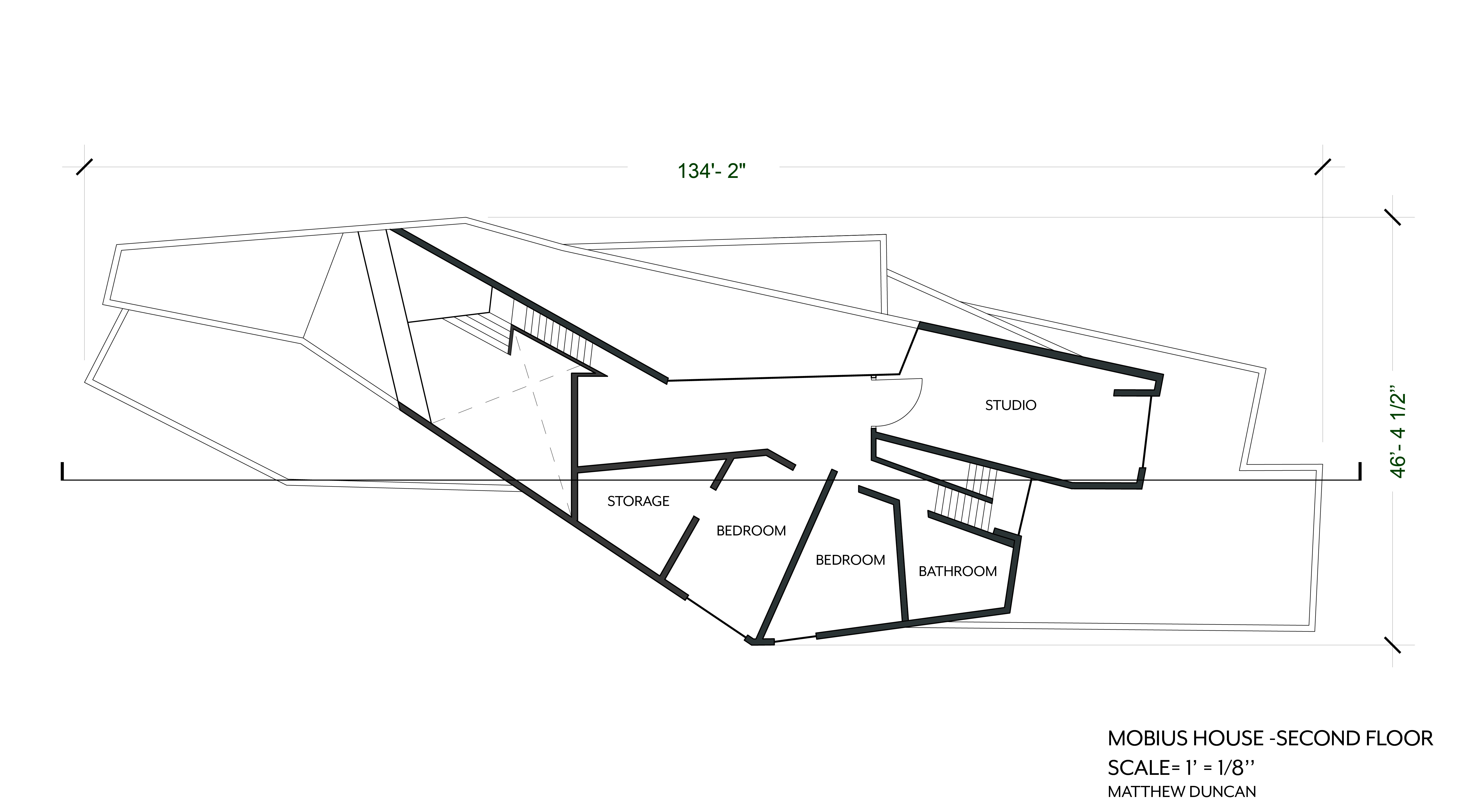 Assignment 2 Precedent Drawings Mobius House Un