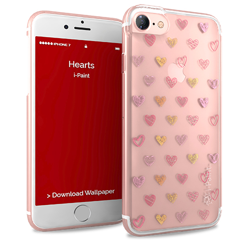 i-Paint - Glamour Case iPhone 8/7 (hearts)