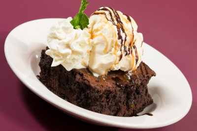 Warm Homemade Triple Chocolate Brownie