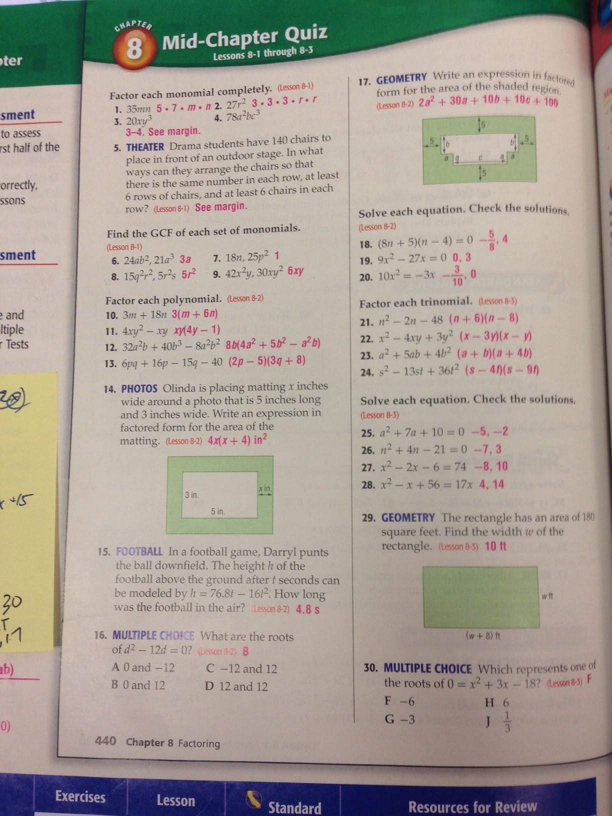 Workbook Answers