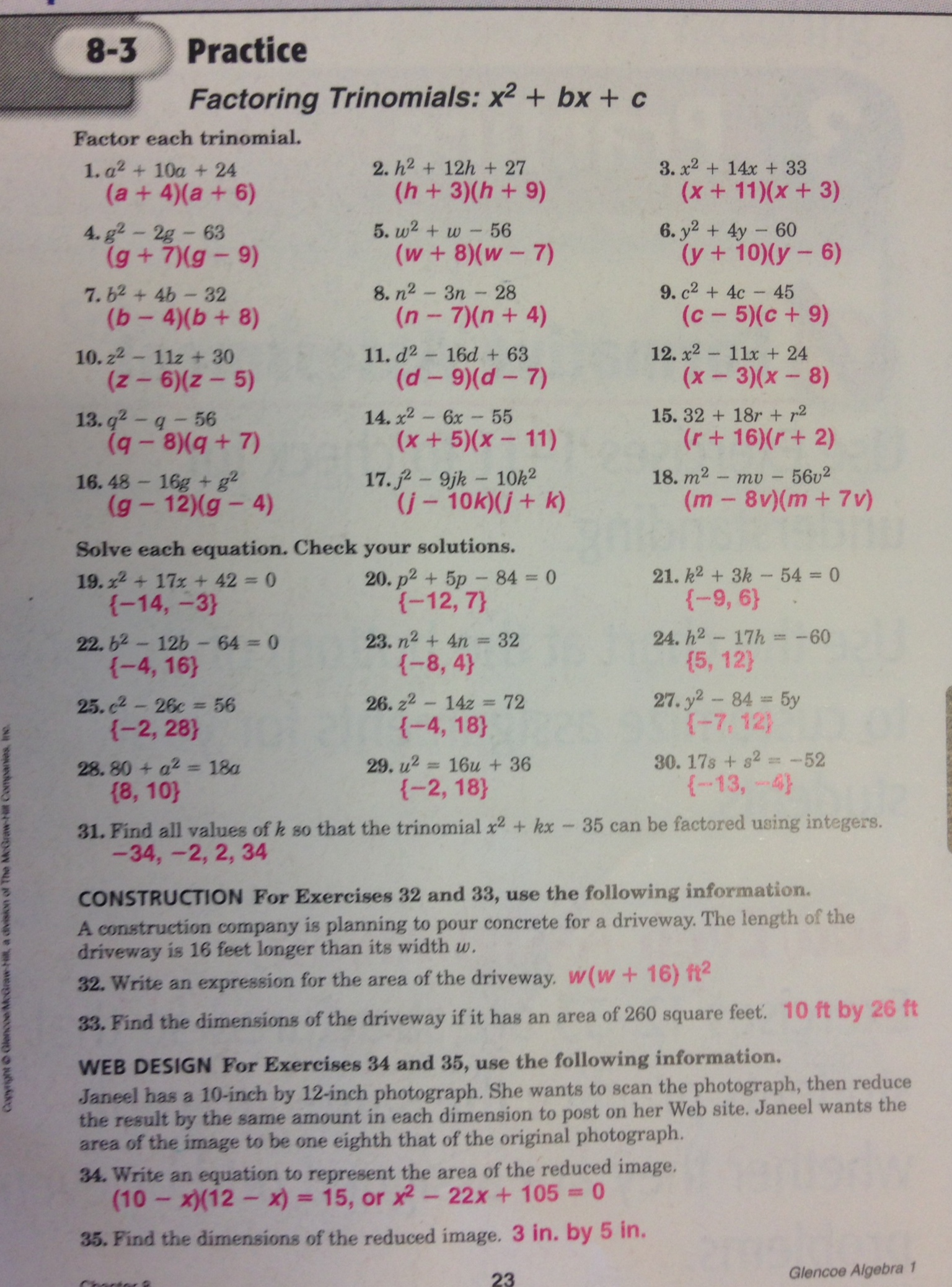 Practice 5 4 Factoring Quadratic Expressions Worksheet Answers Free Worksheets Library