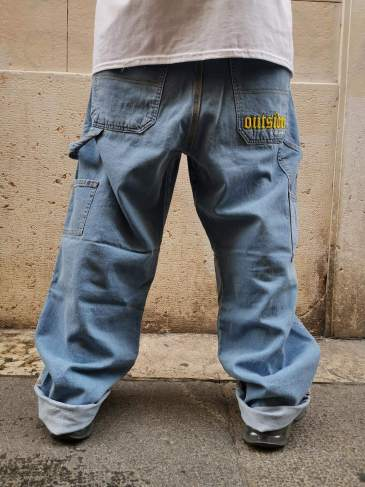 OUTSIDER Baggy Pants Light Blue