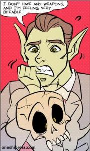 feeling very biteable mr guy zombie hunter panel by diana camero