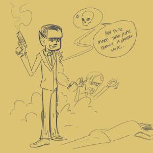 Mr. Guy: Zombie Hunter guest art by Mr. Abstracto