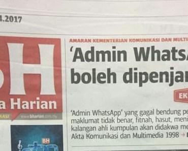 Admin Group WhatsApp Boleh Ditangkap