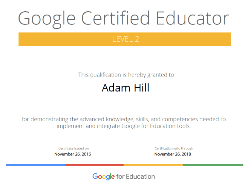 Google Certified Educator Level 2: the journey continues… – Mr ...
