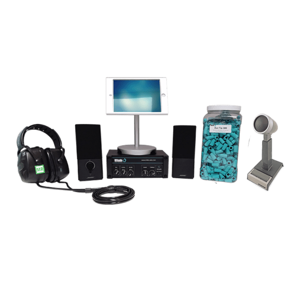 MRI stereo sound audio system for patient communication