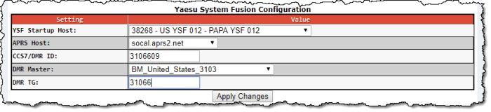 Pi-Star YSF2DMR Configuration