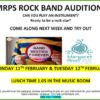 Rock bands poster auditions header image