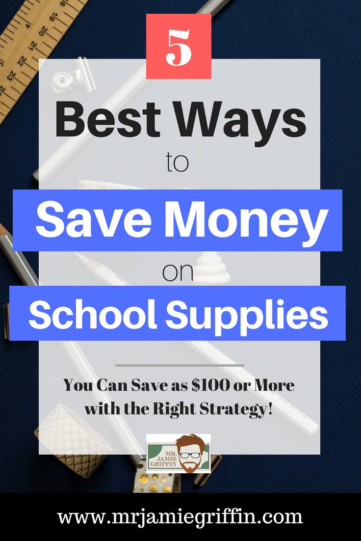 5 Best Ways to Save Money On School Supplies