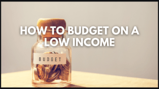 budget on a low income title image