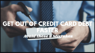 Get out of credit card debt title image