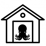 octopus in a garage