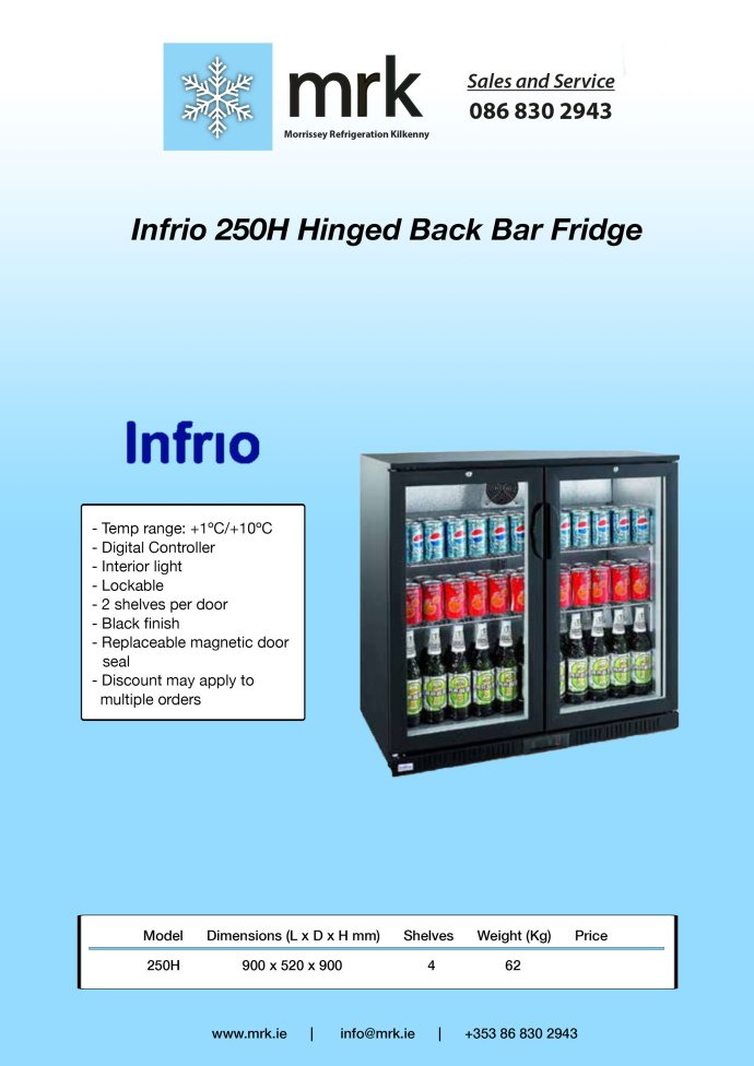 Infrio-250H-Back-Bar-Fridge