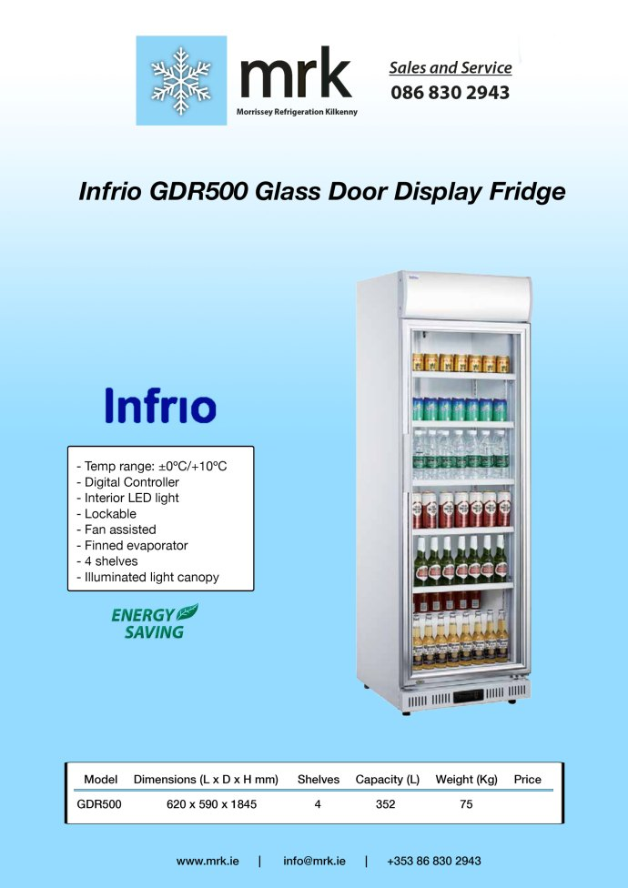 Infrio-GDR500-Glass-Door-Display-Fridge