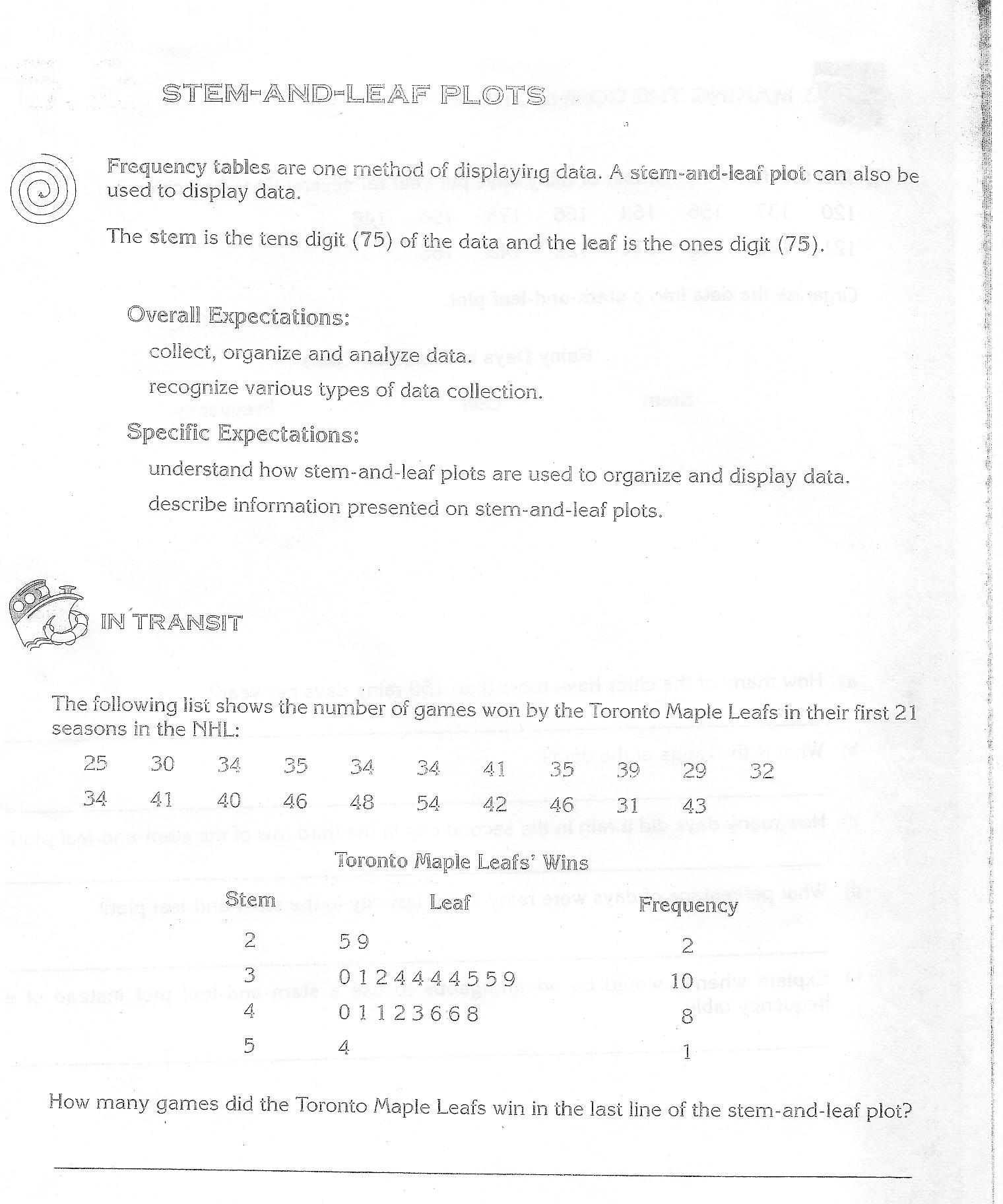 Worksheet Stem And Leaf Plot Worksheets Grass Fedjp Worksheet Study Site