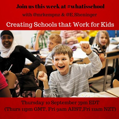 Join us at #whatisschool Building Schools for Kids