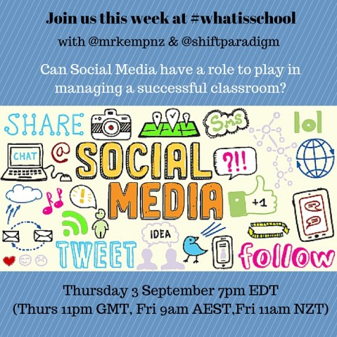 Join us at #whatisschool Social Media