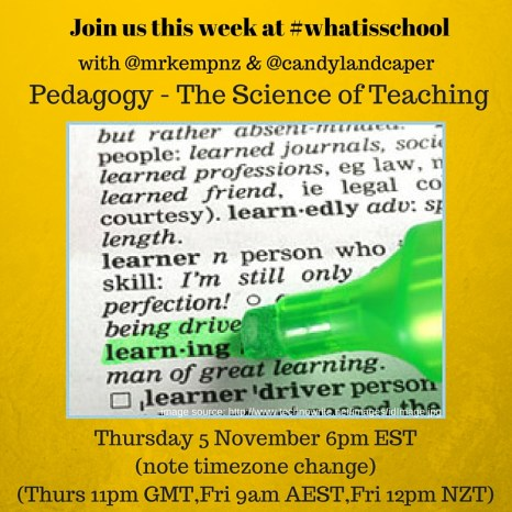 Join us at #whatisschool pedagogy (1)
