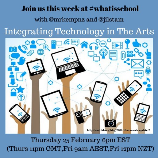 Join us at #whatisschool The Arts