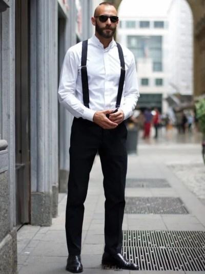 wear suspenders