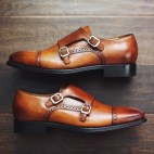Brogue Double Monk Strap Shoe
