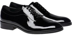 Black Patent Leather - Tuxedo Shoe