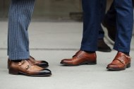 With Socks - Double Monk Strap Shoe + Business Suit