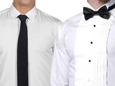 Tuxedo versus Suit Shirt