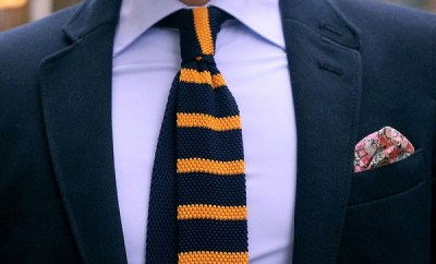 guide to wearing knit ties