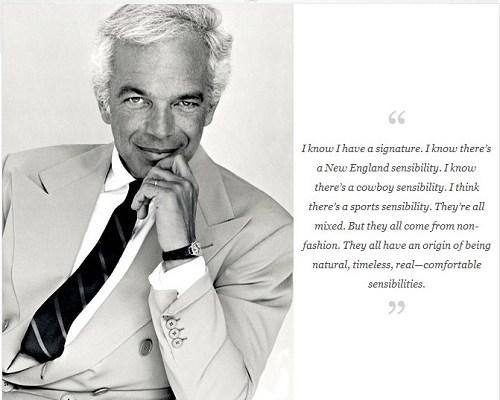 The Man  The Myth  The Style Legend - Mr  Ralph Lauren -