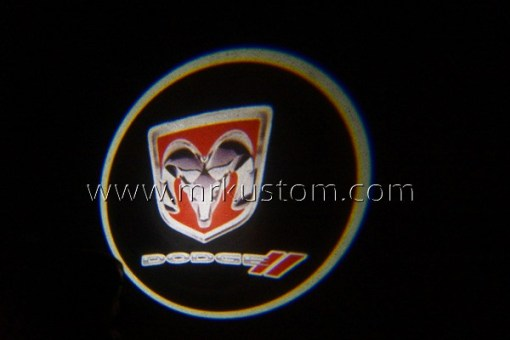 New Dodge LED Courtesy Logo Projector Lights