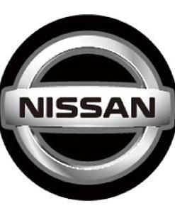 Nissan LED Logo Door Projector Lights Silver