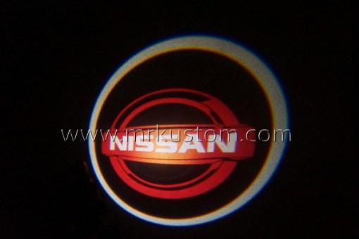 Red Nissan LED Courtesy Logo Projector Lights