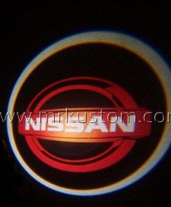 Red Nissan LED Courtesy Logo Projector Lights