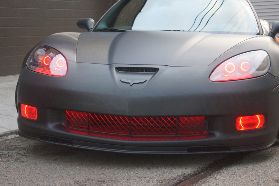 2007 Corvette ZO6 Red Halo Rings