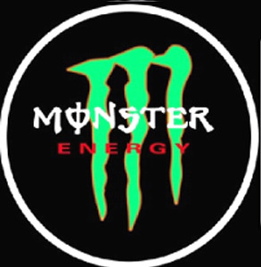 Monster Energy LED Logo Door Projector Courtesy Light