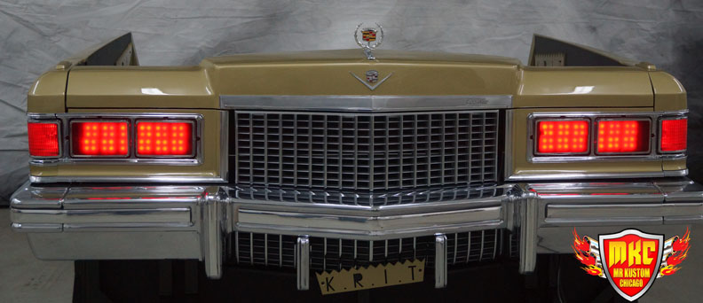 1975 Cadillac Deville Big Krit DJ Booth Red Headlights