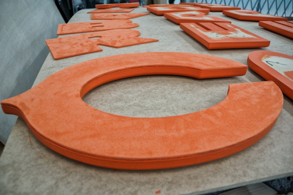Chicago Bears Letters Fabrication