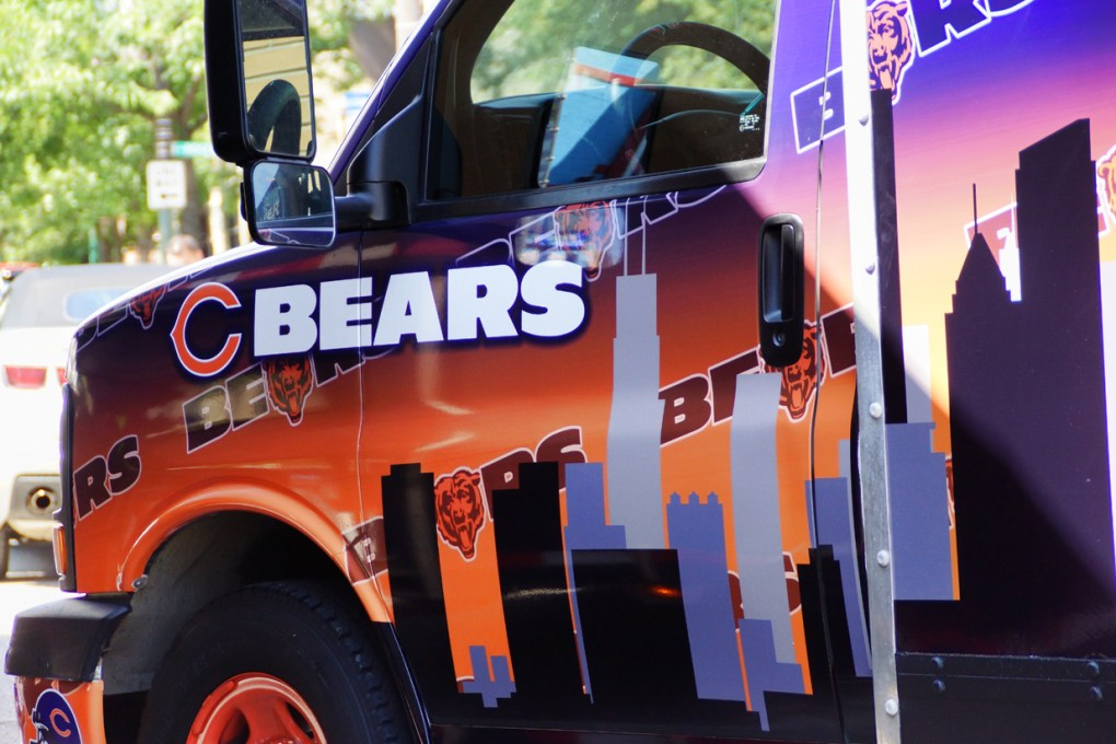 Chicago Bears Party Van Truck